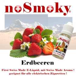 Erdbeeren - E-Liquid - noSmoky (Swiss Made)