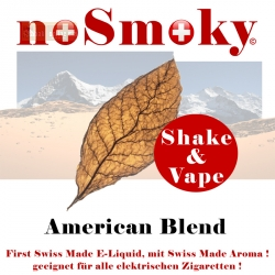 noSmoky (Swiss Made) E-Liquid Shake & Vape - American Blend