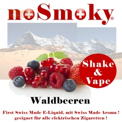 noSmoky (Swiss Made) E-Liquid Shake & Vape - Waldbeeren
