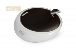 Davidoff Murano Glass Ashtray brown and opal